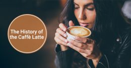 Young Spanish woman drinking caffe latte