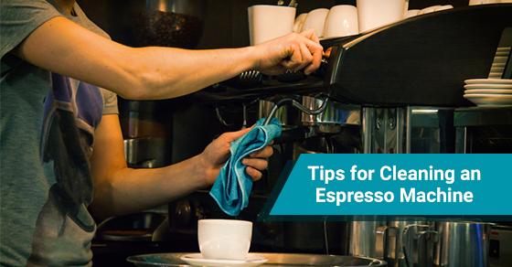 Keeping espresso machine clean